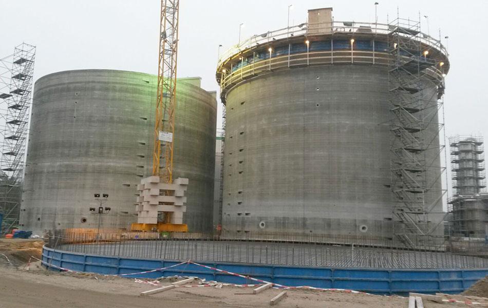 Biogas prestressed concrete tank, Verbio AG