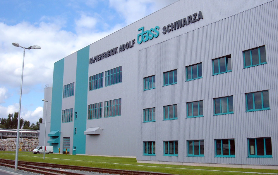 New construction of the PM1 paper mill in Schwarza